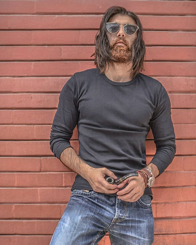 ...and still #denim is a way of life. Amazin shot by @skylinkd . @diesel . _______________________________________ Tag your friends _______________________________________ Follow me to check my modeling style _______________________________________. Beard. Beard model. Male model. Men's long hair. Bearded model. #beards #mustaches #longhair #menwithlonghair #malemodel #beardmodel #beardstyle2017