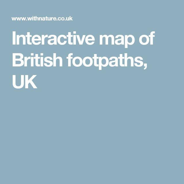 Interactive map of British footpaths, UK