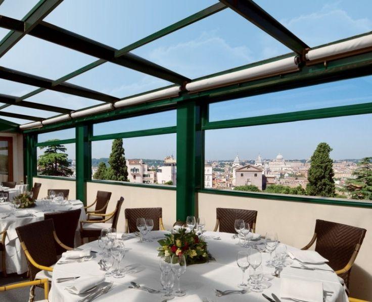 La terrazza delleden es un famoso restaurante de categoría en roma que se