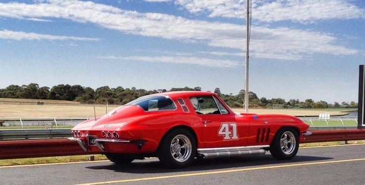 1965 Corvette at SANDOWN raceway in Melbourne Australia