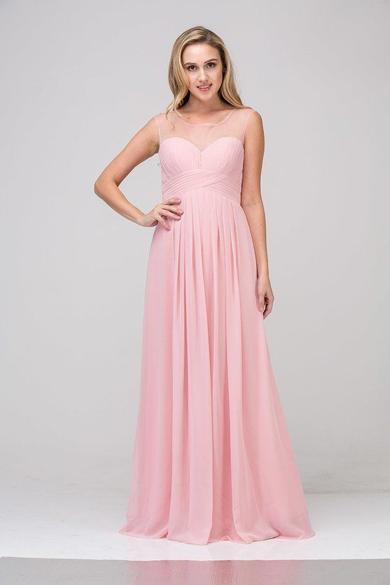 07e6a1a339ef This simple chiffon dress from Star Box features sheer