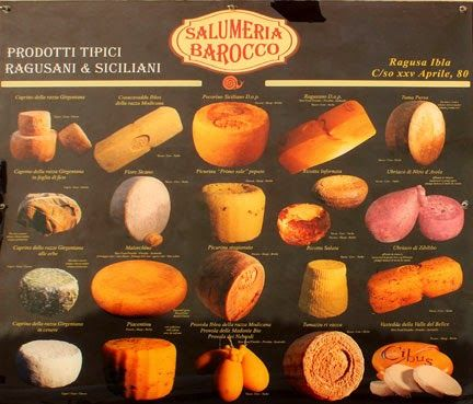 Typical food in Ragusa Ibla