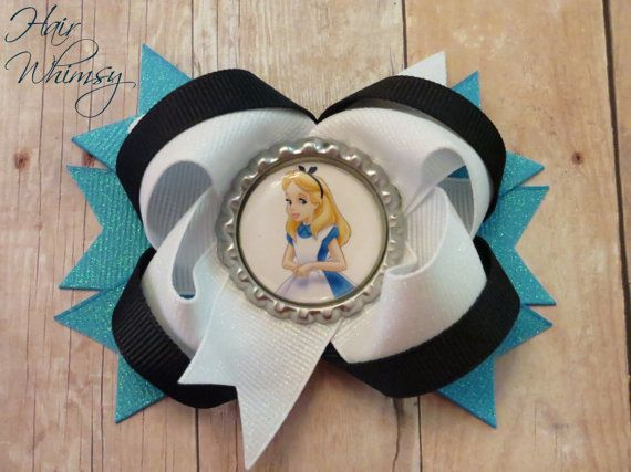 Hey, I found this really awesome Etsy listing at https://www.etsy.com/listing/169555716/alice-in-wonderland-hair-bow