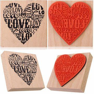 Só R$15.88, compra melhor Selo do coração diy de madeira de borracha amor pelo diário sucata artesanato cartão de reserva venda loja online a preço de atacado.US / EU armazém.