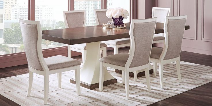 sofia vergara santa fiora white 5 pc rectangle dining room on rooms to go dining room furniture id=99015