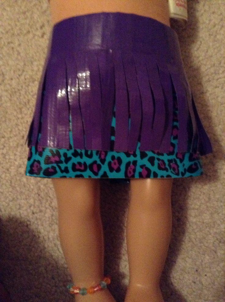 Duck Tape American Girl Doll Skirt