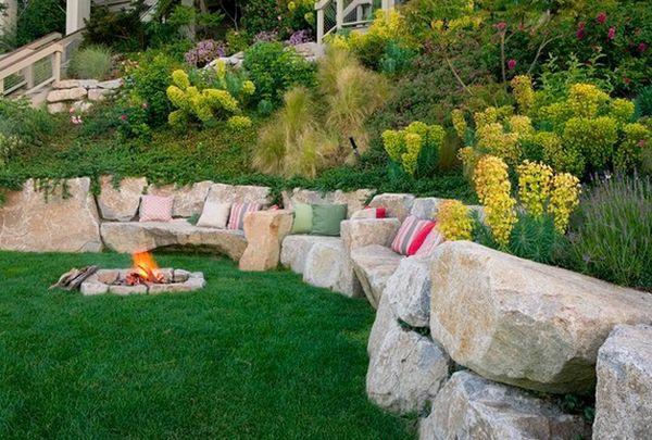 Superbe pour chez nous...:) Schöne Landschaft im Garten - Kieselsteine und Flusssteine einbauen