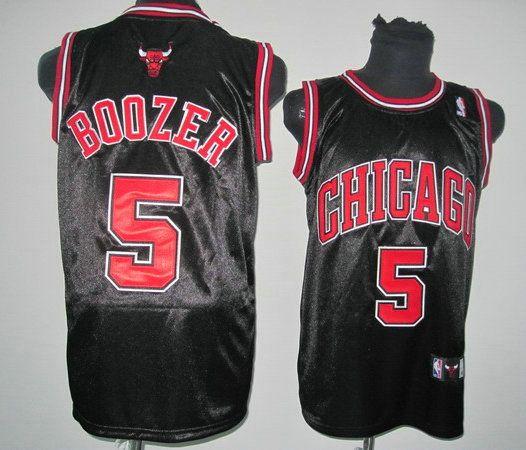 Camisetas de Baloncesto NBA Chicago Bulls Boozer #5 Negro