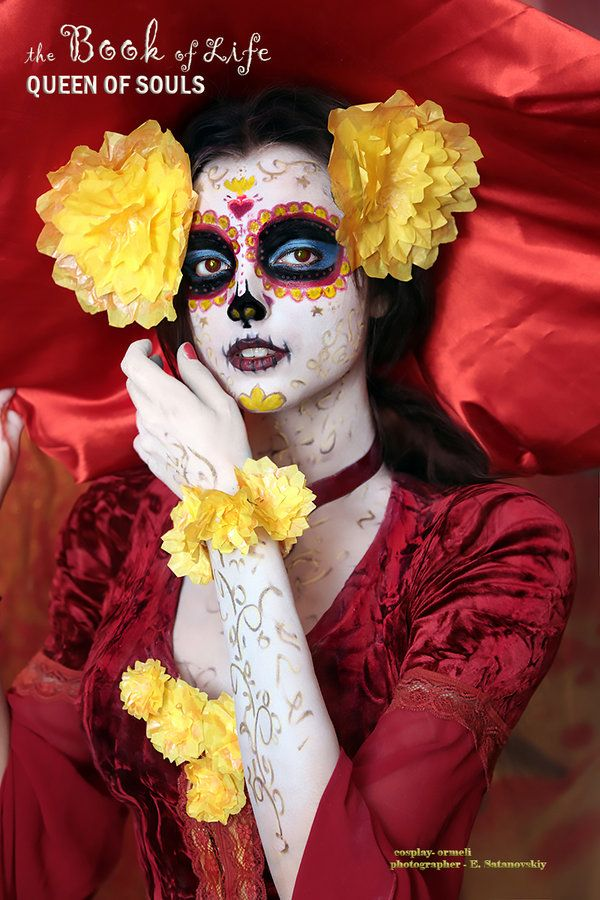 On point with the makeup for the Book of Life: Queen of souls by ormeli.deviantart.com on @DeviantArt