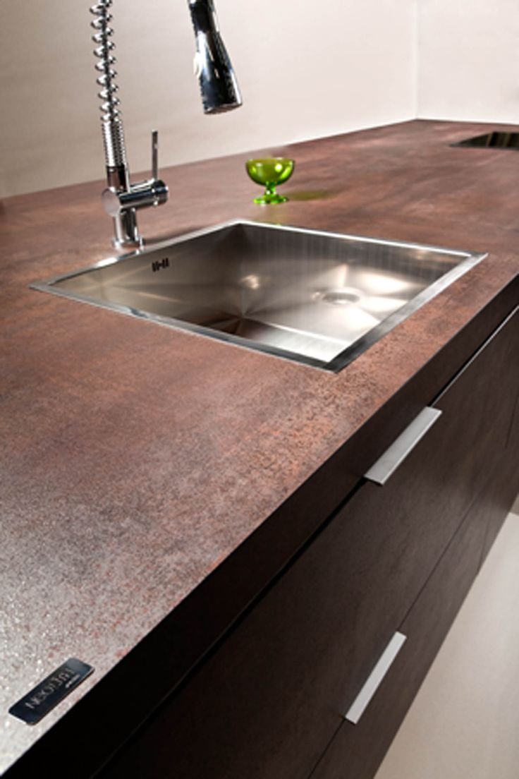 Lightweight Countertop Materials : NEOLITH Countertop (Iron Corten, #IronCollection). 100% natural ...