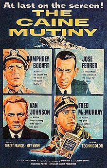 The Caine Mutiny (1954) starring Humphrey Bogart, Van Johnson. Watched April 2016, TCM.