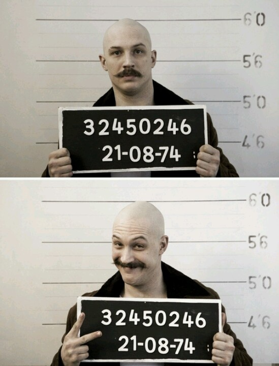 Tom Hardy - Bronson I love the ridiculous moustache..and this is my favorite movie he's ever done.