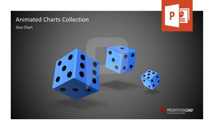 Animated PowerPoint Templates The Animated Charts Collection contains an animated dice chart for PowerPoint. #presentationload  http://www.presentationload.com/animated-charts-collection.html
