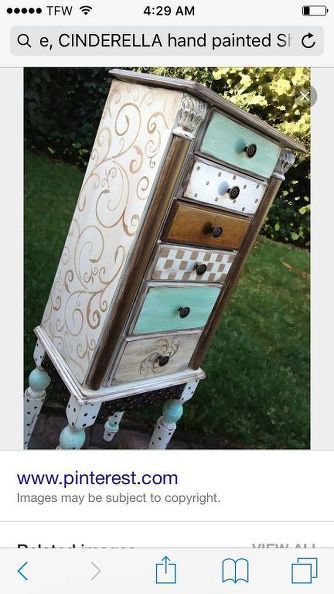 How to create a Cinderella shabby girl looking dresser