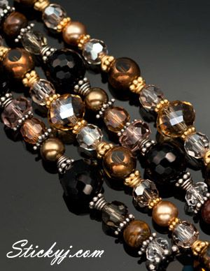 Brown Beaded Jewelry available