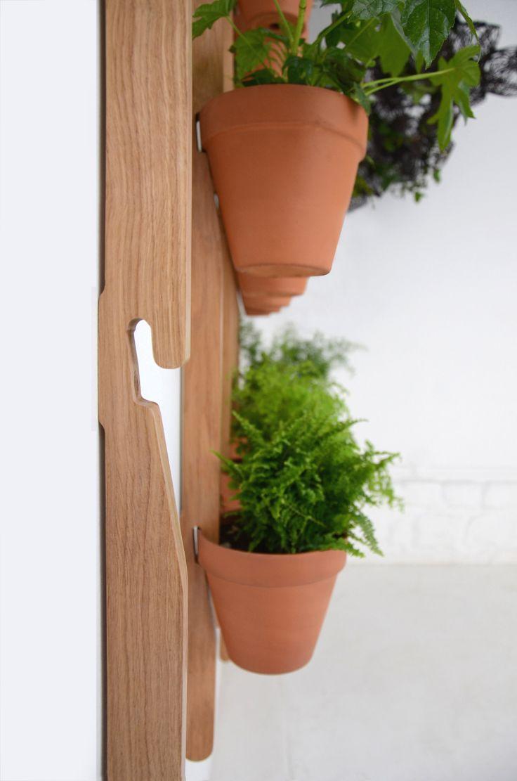 Supporto a parete XPOT / Per 2 vasi di fiori - H 100 cm - Compagnie