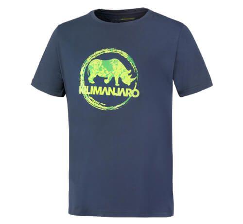 Kilimanjaro Logo. Odolné pánské vycházkové tričko se snadnou údržbou. Funkce: měkké a pohodlné, odolné, snadno se čistí. Technologie/materiál: 100% bavlna. Úprava: kulatý výstřih, logo na hrudi. !!!Mám zelené s modrým nosorožcem!!!