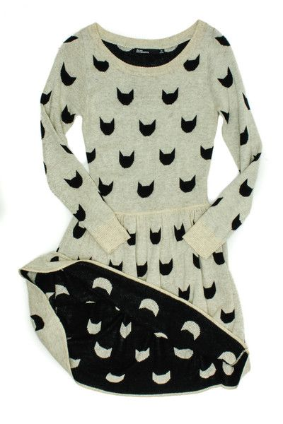 Cat Lady Sweater Dress from Dear Creatures