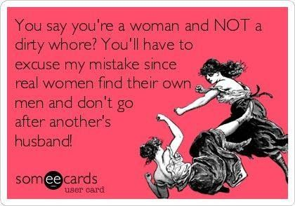 Not a home wrecker?! I beg to differ! But hey she did me. Favor!!! Lol