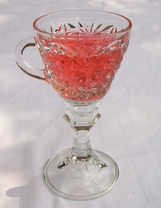 Wine Glasses upcycled punch cup #wine glass #luncheon #punch cup wine glass