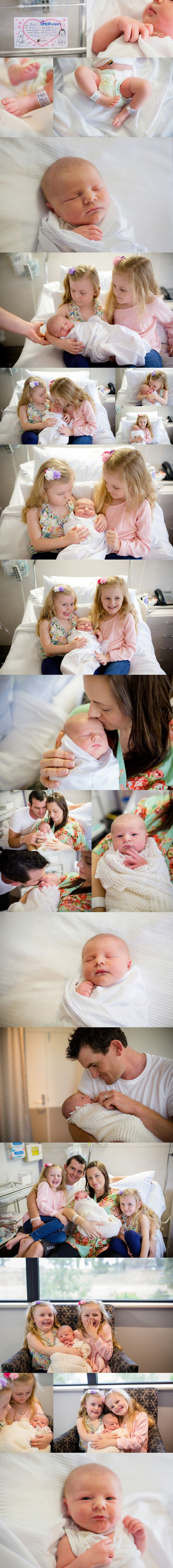 Hills District & North Shore Newborn photographer, specialising in Hospital Newborn Photos (also called First Look or Fresh 48 Sessions), at Norwest Private, The SAN, Hornsby, Hawkesbury, Westmead Private, The Mater & North Shore Private.