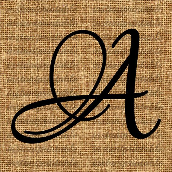 Monogram Initial Letter A Letter Clip Art By