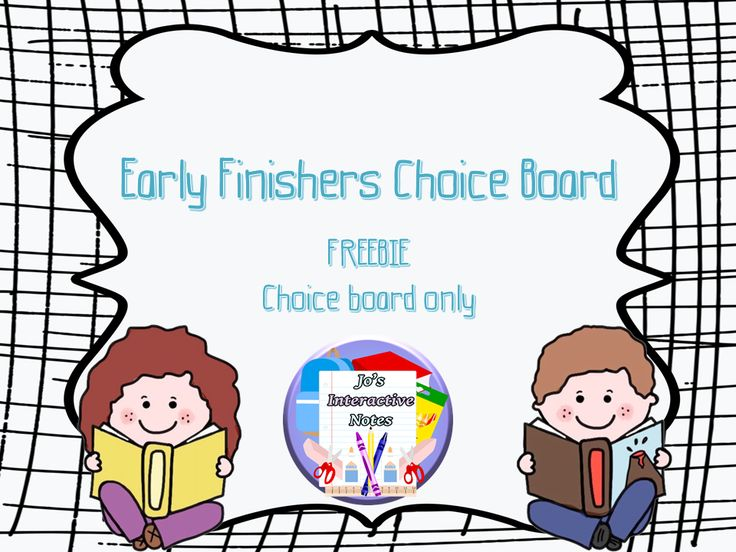 The activities in this pack could be used from upper primary to middle high school either as a review task, homework, or for early finishers. This freebie contains the early finishers' version of the choice board.