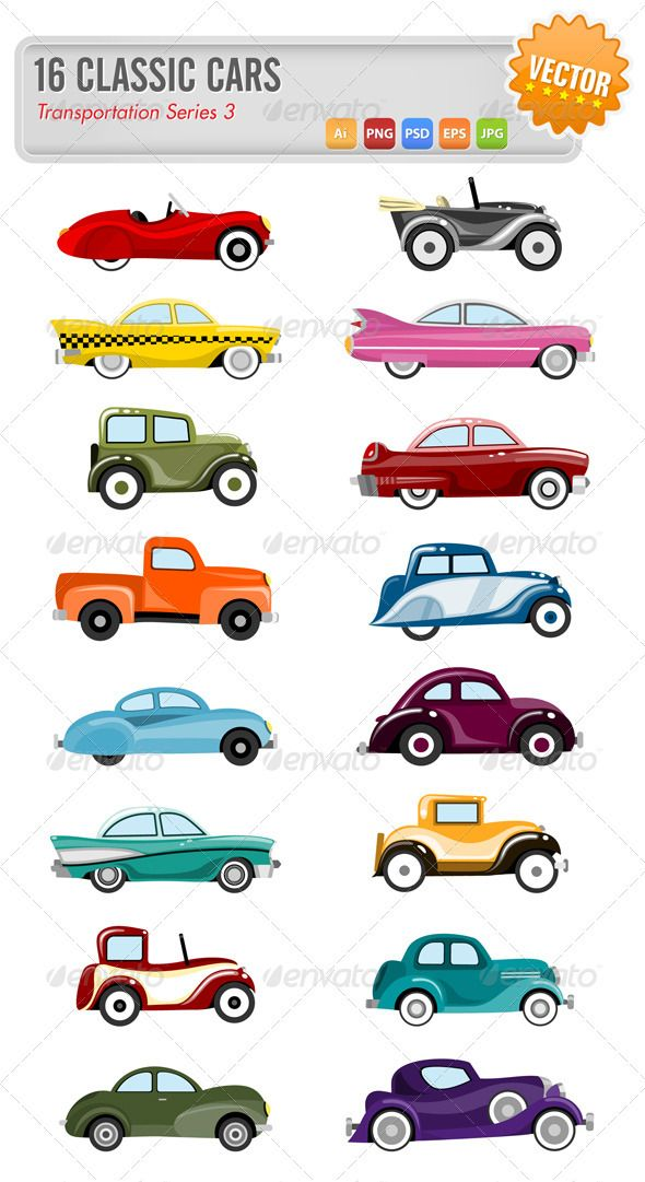 16 Vector classic cars