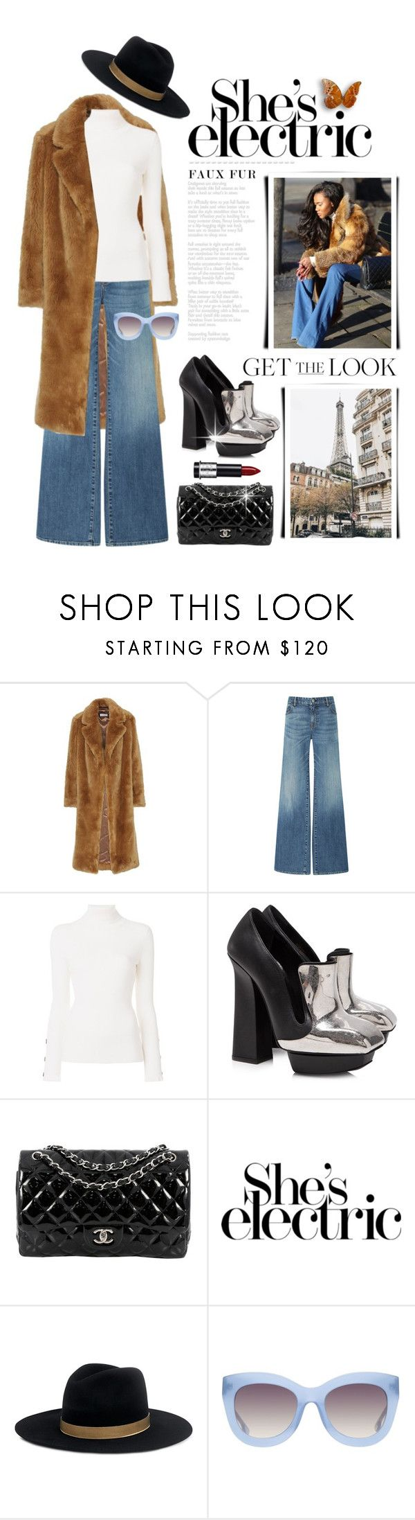 """""""Wow Factor: Faux Fur"""" by shortyluv718 ❤ liked on Polyvore featuring Dries Van Noten, Nili Lotan, See by Chloé, Alexander McQueen, Chanel, Ultimate, IRO, Alice + Olivia and fauxfur"""