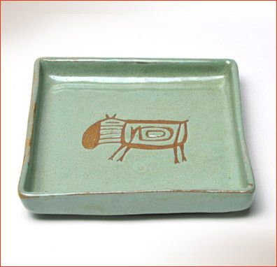 "Perfect for individual servings of hors d'oeuvres or finger foods at your next gathering. Dimensions: 5"" x 5"" Color: Green Design: Capibara Microwave, oven and dishwasher safe. Designed and handmade I"