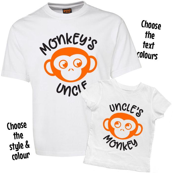 Monkey's Uncle & Uncle's Monkey T Shirt Set