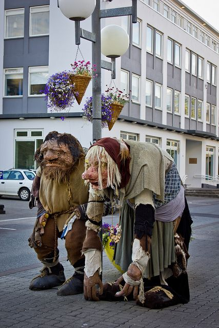 Trolls in the town #Akureyri #Iceland