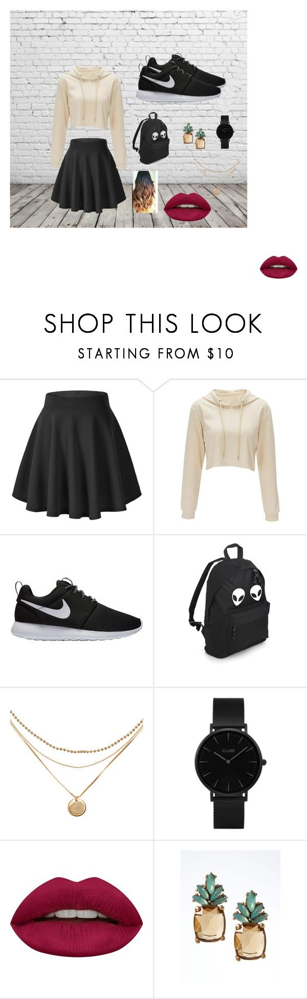 """casual"" by nohelyrodriguez-1 on Polyvore featuring moda, NIKE, CLUSE, Huda Beauty y Banana Republic"