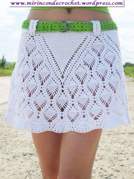 Muy bella falda…   Mi Rincon de Crochet