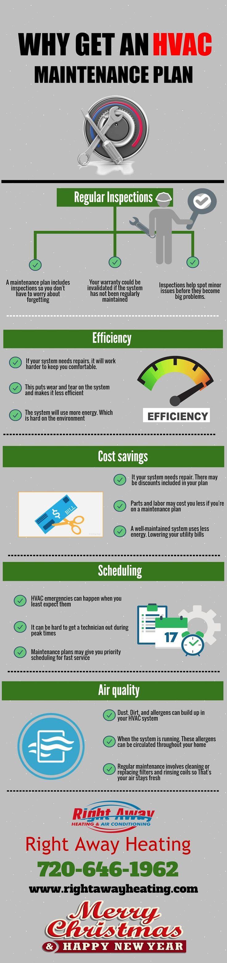 Why Get an HVAC Maintenance Plan #HVAC #EnvironmentalHeatingCooling