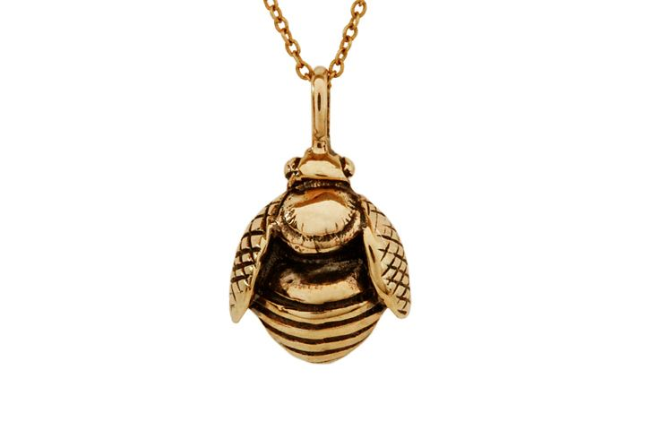 Rose gold African Honey Bee pendant