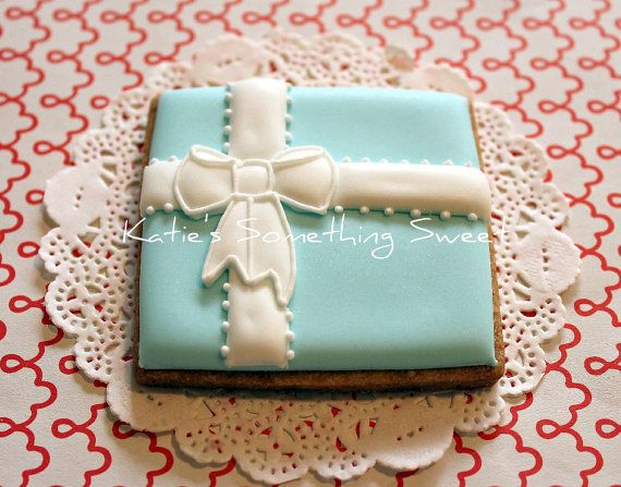Wedding CookiesTiffany Gift Box by katiesomethingsweet on Etsy