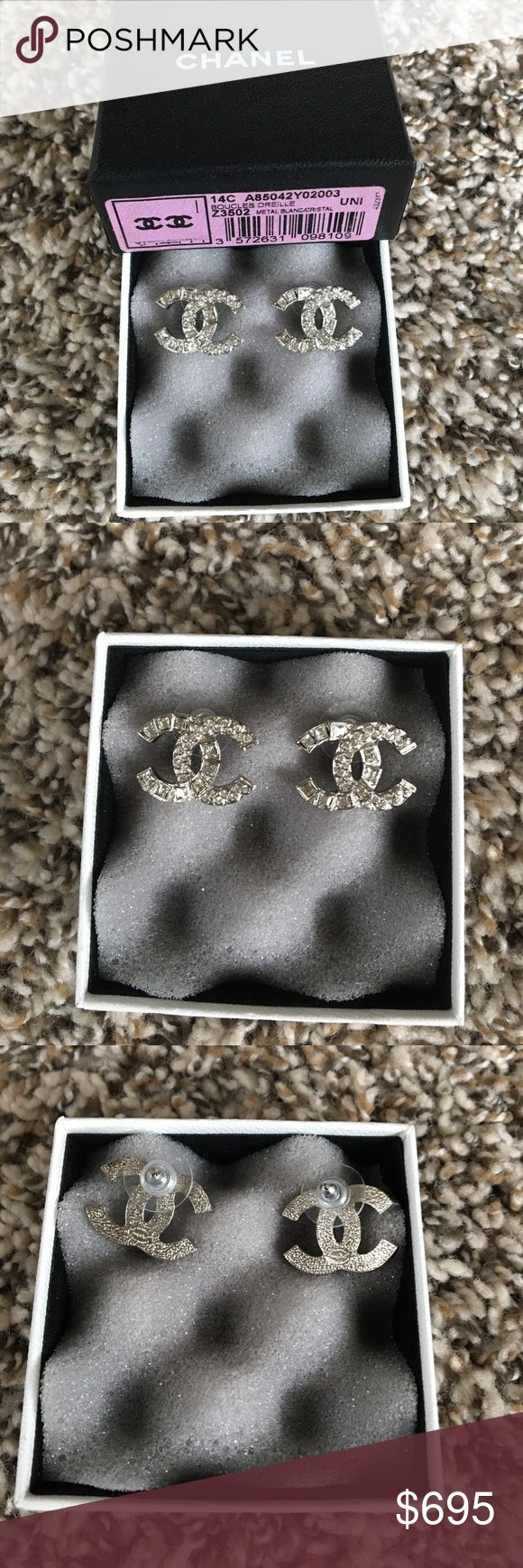 Chanel 14C Earrings Brand new in box. Comes with box and drawstring bag.  Purchased at Chanel, Neiman Marcus, Houston Galleria.  Exclusive item. Reasonable offers only💚 CHANEL Jewelry Earrings