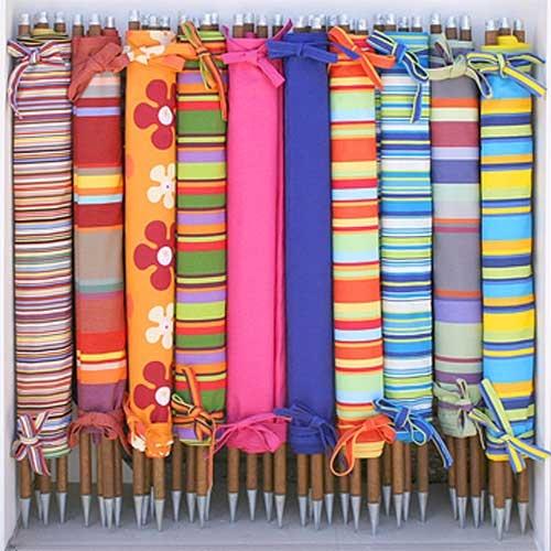 Traditional Wide Stripe Printed Cotton Windbreak