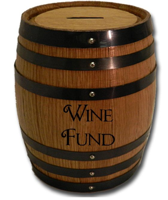 Barrel Bank - Wine Fund Piggy Bank - 1 Liter Barrel - x x inches