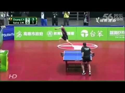 Hilarious ping pong match  #JorgeGdelArco