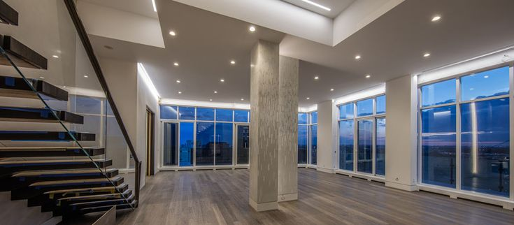 Yorkville Full Floor Penthouse The Florian Condos 88 Davenport Rd Toronto Staircase leads to large terrace with private pool & hot-tub Victoria Boscariol Chestnut Park Real Estate