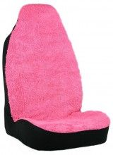 Add some fun girly pink style to your ride with Shaggy Pink seat cover available at CarDecor.com.