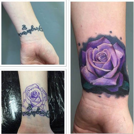 Wrist tattoos inked magazine tattoo pinterest for Wrist tattoo cover ups