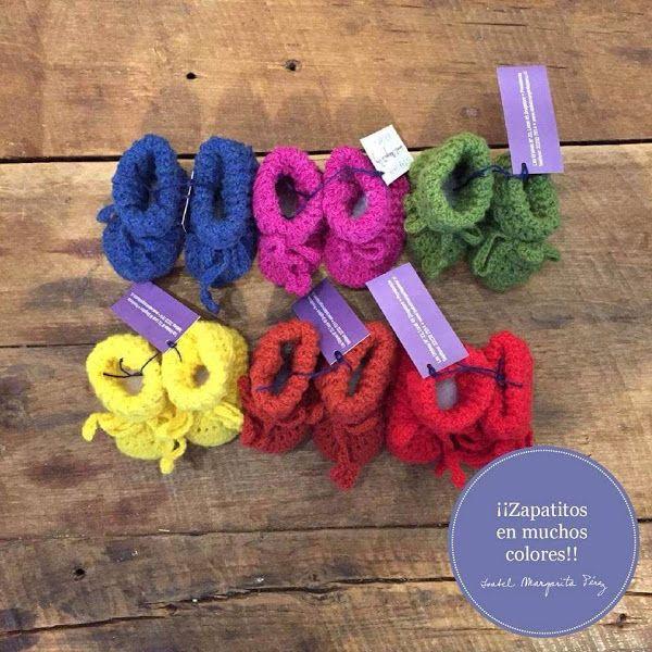 Zapatitos de crochet en muchos colores
