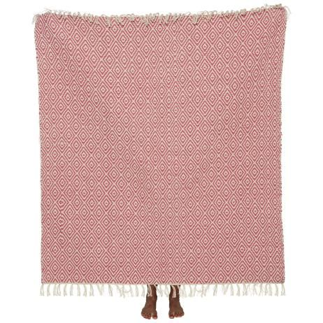 Throw Rug in Flamingo Pink