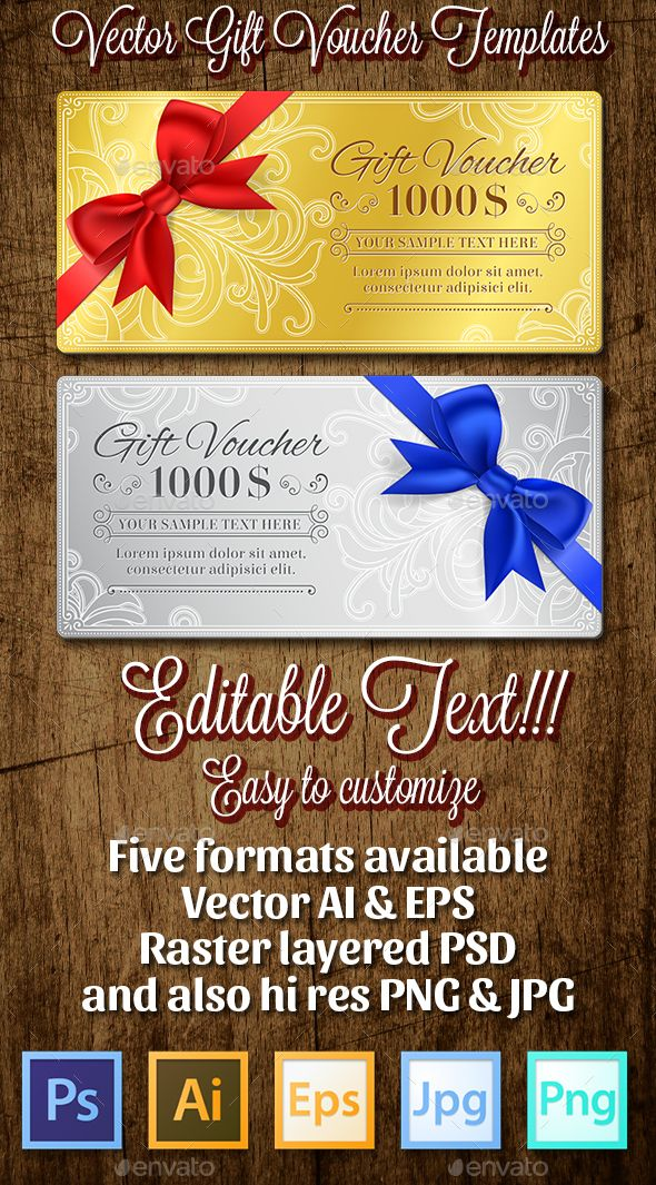 68 best Gift Voucher Templates images on Pinterest Gift card - food voucher template