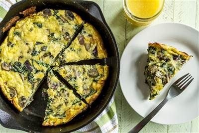 Brunch or dinner? This low-carb veggie frittata is a healthy option for either meal