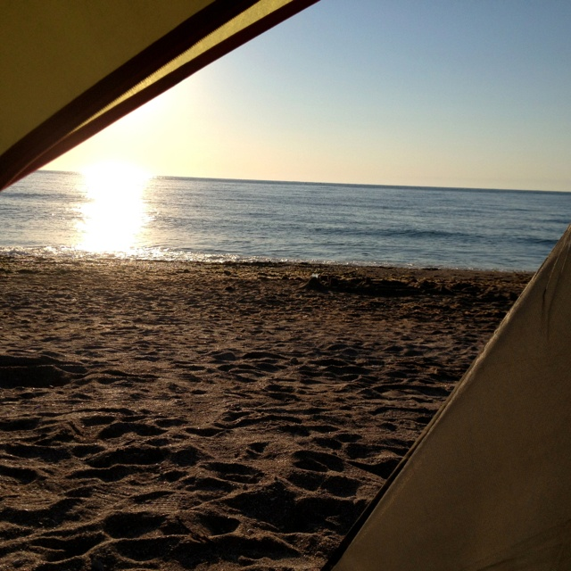 Waking up to the Black Sea in Vama Veche, Romania