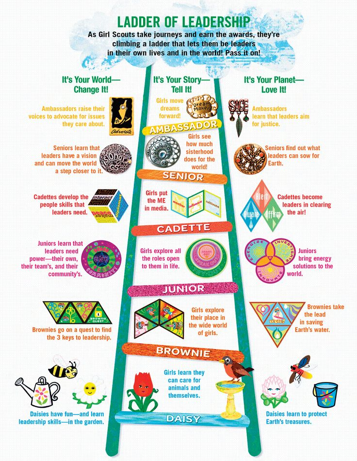 The New program with the Three Different Girl Scout Journey topics for each…